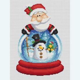 Santa Globe - Borduurpakket met telpatroon Orcraphics |  | Artikelnummer: orc-2017-02-41