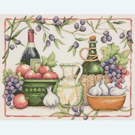 Tuscan Flavors - borduurpakket met telpatroon Dimensions |  | Artikelnummer: dim-35232