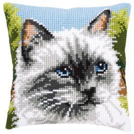 Siamese Cat - Vervaco Kruissteekkussen |  | Artikelnummer: vvc-146067