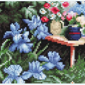 Flower Garden - borduurpakket met telpatroon Luca-S |  | Artikelnummer: luca-b2342