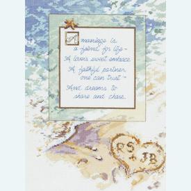 A Marriage is... - borduurpakket met telpatroon Janlynn |  | Artikelnummer: jl-023.0564