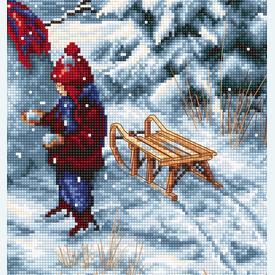 Merry Christmas - borduurpakket met telpatroon Luca-S  |  | Artikelnummer: luca-b2358