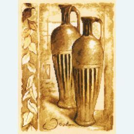 Emperor's Amphora by Joadoor - handwerkpakket met telpatroon Vervaco - kaaslinnen |  | Artikelnummer: vvc-25142
