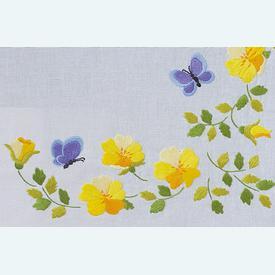 Spring Flowers loper - voorgedrukt borduurpakket van Vervaco |  | Artikelnummer: vvc-163025