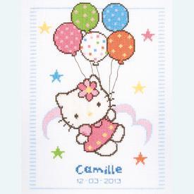Hello Kitty - Camille - kruissteekpakket met telpatroon Vervaco |  | Artikelnummer: vvc-148222