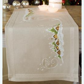 Village in the Snow loper - voorgedrukt borduurpakket - Vervaco |  | Artikelnummer: vvc-150980
