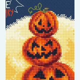 Pumpkin's Party  - borduurpakket met telpatroon Letistitch |  | Artikelnummer: leti-997