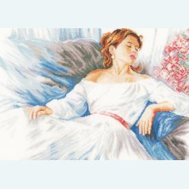 Rhapsody in Blue - borduurpakket met telpatroon Lanarte  |  | Artikelnummer: ln-150002