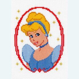 Cinderella - Disney borduurpakket met telpatroon Vervaco  |  | Artikelnummer: vvc-19027