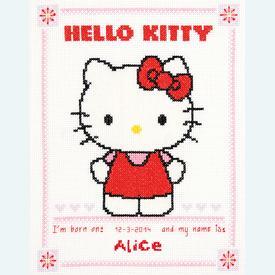 Hello Kitty - Alice - borduurpakket met telpatroon Vervaco |  | Artikelnummer: vvc-147578