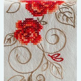 Roses - lange loper - voorgedrukt borduurpakket - Vervaco |  | Artikelnummer: vvc-144657
