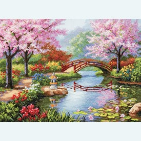 Japanese Garden - borduurpakket met telpatroon Dimensions |  | Artikelnummer: dim-70.35313