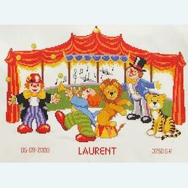 In the Circus - borduurpakket met telpatroon Vervaco |  | Artikelnummer: vvc-70725