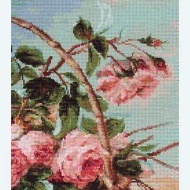Basket of Roses - kruissteekpakket met telpatroon Luca-S |  | Artikelnummer: luca-b547