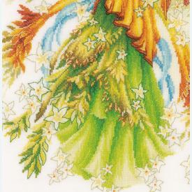 Fantasy Elf Fairy - borduurpakket met telpatroon Lanarte |  | Artikelnummer: ln-175886