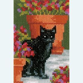 Wenskaarten Cats between Flowers - borduurpakketten met telpatroon Vervaco |  | Artikelnummer: vvc-188672