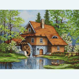 Spring Landscape - borduurpakket met telpatroon Luca-S |  | Artikelnummer: luca-b492