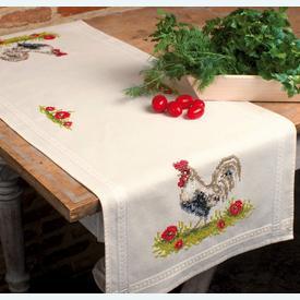 Rooster loper - voorgedrukt borduurpakket - Vervaco |  | Artikelnummer: vvc-92371