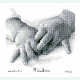 Baby Hands - kruissteekpakket met telpatroon Vervaco |  | Artikelnummer: vvc-150172