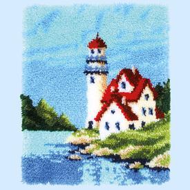 Lighthouse - knooptapijt Vervaco | Smyrna tapijt met vuurtoren | Artikelnummer: vvc-168737