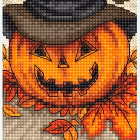 Trick or Treat - borduurpakket met telpatroon Letistitch |  | Artikelnummer: leti-956