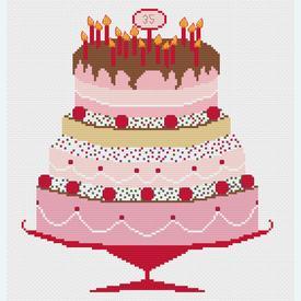 Celebration Cake - borduurpakket met telpatroon Nafra |  | Artikelnummer: nf-nafra21042