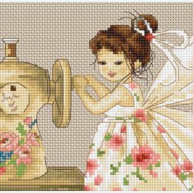 Needlework Fairy - borduurpakket met telpatroon Luca-S |  | Artikelnummer: luca-b1116