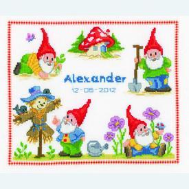 Merry Gnomes - borduurpakket met telpatroon Vervaco |  | Artikelnummer: vvc-145166