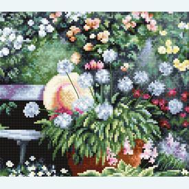 Blooming Garden - borduurpakket met telpatroon Luca-S |  | Artikelnummer: luca-bu4012