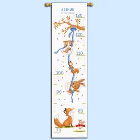 Growing Chart: Forest Friends - borduurpakket met telpatroon Vervaco | Groeimeter met bosdieren | Artikelnummer: vvc-170864