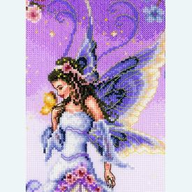 Lilac Fairy - kruissteekpakket met telpatroon Vervaco |  | Artikelnummer: vvc-145024