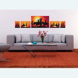 In the Sunset - 5 borduurpakketten met telpatroon Nafra | Bundel van 5 telpakketten | Artikelnummer: nf-nafra21011-2345-bun
