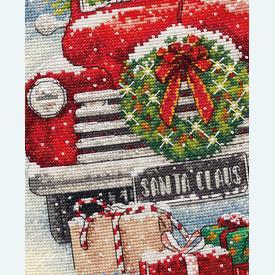 Santa's Truck Stocking - borduurpakket met telpatroon Dimensions |  | Artikelnummer: dim-70-08986
