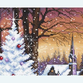 Christmas Wood - borduurpakket met telpatroon Letistitch |  | Artikelnummer: leti-947