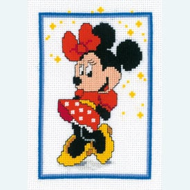 Minnie Mouse - Disney borduurpakket met telpatroon Vervaco |  | Artikelnummer: vvc-14671