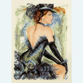 Moulin Rouge - kruissteekpakket met telpatroon Vervaco - kaaslinnen |  | Artikelnummer: vvc-29127