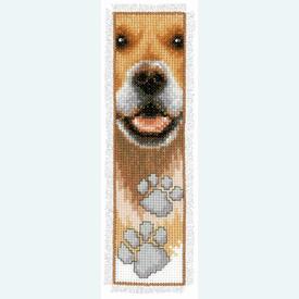 Bladwijzer Dog's Footprints - kruissteekpakket met telpatroon Vervaco |  | Artikelnummer: vvc-143912