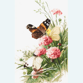 Butterflies in the Field - borduurpakket met telpatroon Letistitch |  | Artikelnummer: leti-938
