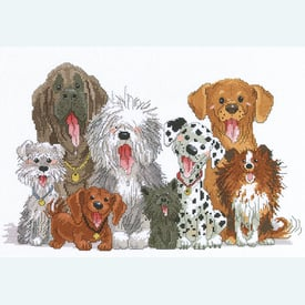 Dogs of Duckport - borduurpakket met telpatroon Janlynn  |  | Artikelnummer: jl-038.0178