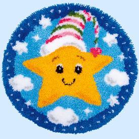 Little Star - knooptapijt Vervaco  | smyrnatapijt met ster | Artikelnummer: vvc-179212
