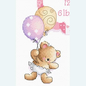 It's a Girl !  - borduurpakket met telpatroon Letistitch |  | Artikelnummer: leti-969