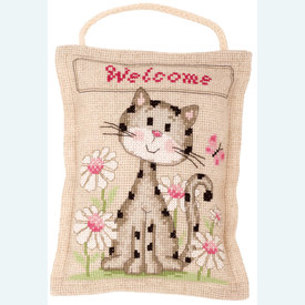 Welcome - borduurpakket met telpatroon Vervaco |  | Artikelnummer: vvc-144642