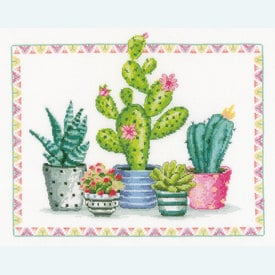 Plant Corner - borduurpakket met telpatroon Vervaco |  | Artikelnummer: vvc-174387