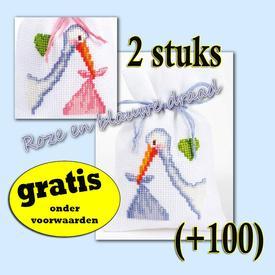 Kruidenzakje - Mr.Stork - Handwerkpakketje met telpatroon Vervaco | Gratis onder voorwaarden  | Artikelnummer: vvc-48262-0-100