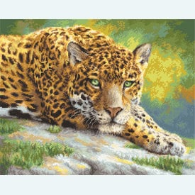 Peaceful Jaguar - borduurpakket met telpatroon Letistitch |  | Artikelnummer: leti-920