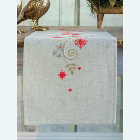 Christmas lange tafelloper -  borduurpakket met telpatroon Vervaco |  | Artikelnummer: vvc-172673