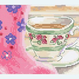 Pretty Kitten - borduurpakket met telpatroon Luca-S |  | Artikelnummer: luca-b2390