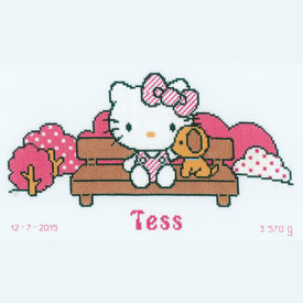 Hello Kitty - In the Park - Vervaco kruissteekpakket met telpatroon      Artikelnummer: vvc-155878