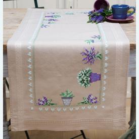 Lavendar loper - voorgedrukt borduurpakket - Vervaco |  | Artikelnummer: vvc-165726