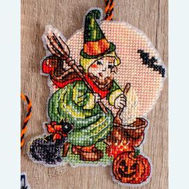 Halloween Toys - borduurpakketjes met telpatroon Letistitch | set van 8 stuks | Artikelnummer: leti-8008